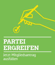 partei-ergreifen für die Grünen im Kreis